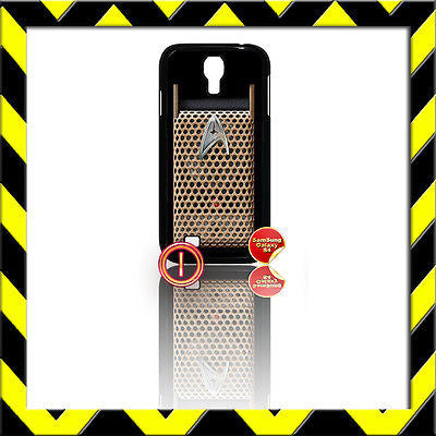 ★ STAR TREK COMMUNICATOR ★ COVER FOR SAMSUNG GALAXY S4 IV/I9500 INTO DARKNESS#1 - Black Halo Design