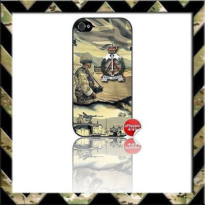 ★ ROYAL PIONEER CORPS (RPC PIONEERS)★ COVER FOR APPLE IPHONE 4/4S CASE ARMY H4H - Black Halo Design