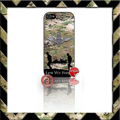 ★ THE PARACHUTE REGIMENT ★ SHELL/CASE/COVER FOR IPHONE 5/5S (PARA)CAMO#3 - Black Halo Design