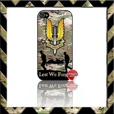 THE SPECIAL AIR SERVICE (SAS) SHELL/CASE/COVER FOR APPLE IPHONE 4/4S #20 - Black Halo Design