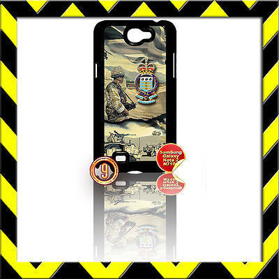 ★ ROYAL ARMOURED ORDNANCE CORPS★ COVER FOR SAMSUNG GALAXY NOTE II/2/N7100 RAOC#9 - Black Halo Design