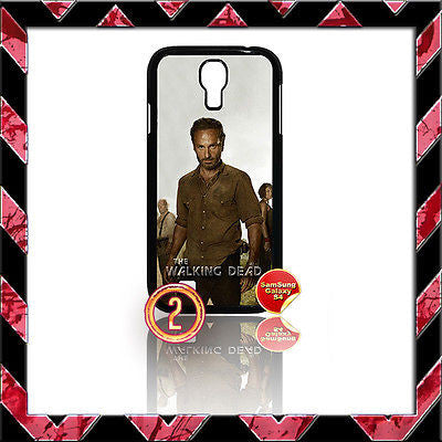 ★ THE WALKING DEAD ★ COVER FOR SAMSUNG GALAXY S4 IV/I9500 PHONE CASE RICK#2 - Black Halo Design