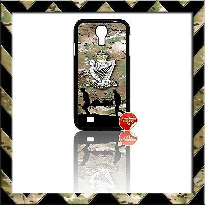 ★ THE ROYAL IRISH RANGERS (RIR) COVER FOR SAMSUNG GALAXY S4/S IV/I9500 CASE ARMY - Black Halo Design