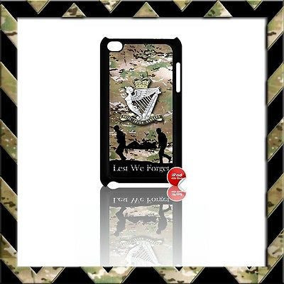 THE ROYAL IRISH RANGERS RIR COVER/CASE FOR IPOD TOUCH 4/4TH GEN GENERATION 4G#5 - Black Halo Design