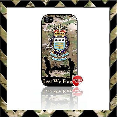 ★ ROYAL ARMY ORDNANCE CORPS RAOC SHELL/CASE/COVER FOR APPLE IPHONE 4/4S CAMO#8 - Black Halo Design