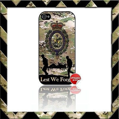 ★ THE ROYAL REGIMENT OF FUSILIERS SHELL/CASE/COVER FOR APPLE IPHONE 4/4S CAMO#11 - Black Halo Design