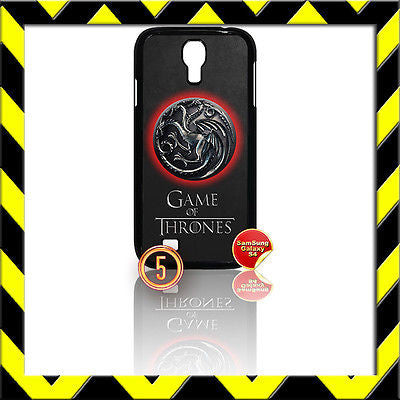 ★GAME OF THRONES★COVER FOR SAMSUNG GALAXY S4 IV/I9500 PHONE TARGARYEN DRAGONS#5 - Black Halo Design