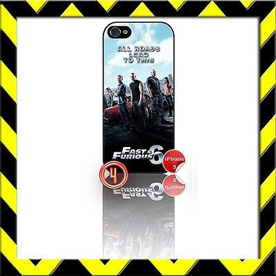 ★ FAST AND (&) FURIOUS 6 ★ PHONE COVER FOR IPHONE 5 (CASE) THE CREW#4 - Black Halo Design