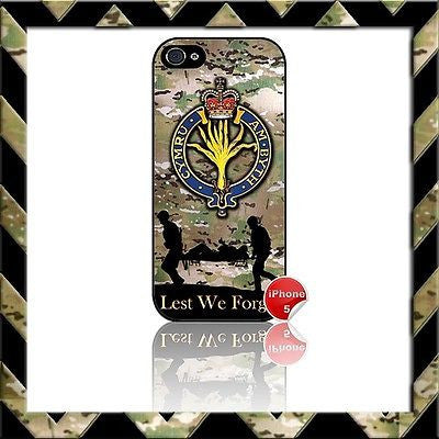 ★ THE WELSH GUARDS ★ SHELL/CASE/COVER FOR IPHONE 5 CAMO - Black Halo Design