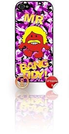 ★ MR BANG TIDY(KEITH LEMON)★ PHONE COVER FOR IPHONE 5/5S (CASE) GIRL CAMO#6 - Black Halo Design