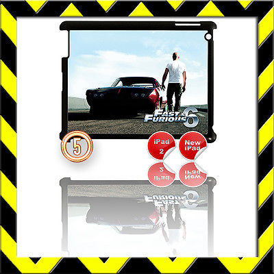 ★ FAST & FURIOUS 6 ★ SHELL/COVER FOR IPAD 2/3/4(3RD/4TH GEN AND) VIN DIESEL #5 - Black Halo Design