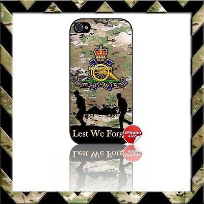 THE ROYAL ARTILLERY SHELL/CASE/COVER FOR APPLE IPHONE 4/4S #19 - Black Halo Design