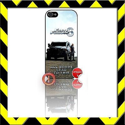 ★ FAST AND (&) FURIOUS 6 ★ PHONE COVER FOR IPHONE 5/5S (CASE) THE ROCK#1 - Black Halo Design