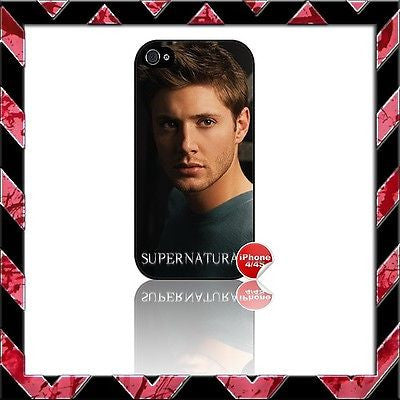★ SUPERNATURAL ★ COVER FOR IPHONE 4/4S SHELL CASE JENSEN ACKLES#1 - Black Halo Design