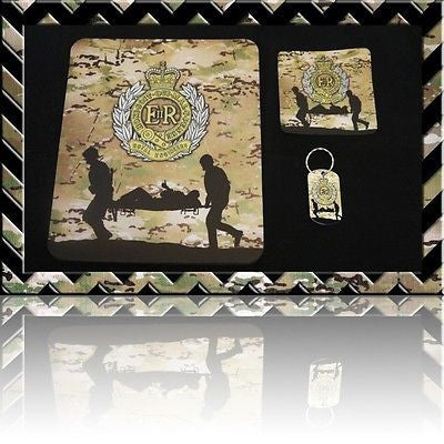 THE ROYAL ENGINEERS (SAPPERS) MOUSE MAT/COASTER/DOGTAG KEYRING SET (Mousemat) H4 - Black Halo Design