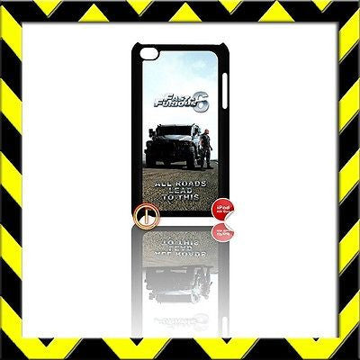★ FAST AND (&) FURIOUS ★ IPOD TOUCH 4/4TH GENERATION 4G HARD COVER THE ROCK#1 - Black Halo Design