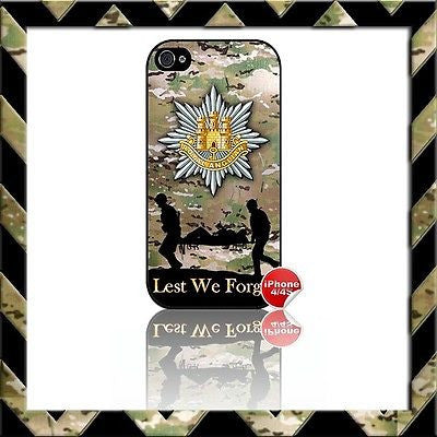 THE ROYAL ANGLIAN REGIMENT SHELL/CASE/COVER FOR APPLE IPHONE 4/4S #18 - Black Halo Design
