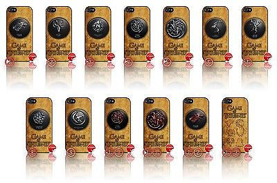 ★ CHOICE OF GAME OF THRONES ★ COVER/CASE FOR APPLE IPHONE 5  - Black Halo Design  - 1