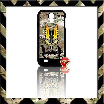 ★ THE SPECIAL AIR SERVICE (SAS) COVER FOR SAMSUNG GALAXY S4/S IV/I9500 CASE ARMY - Black Halo Design