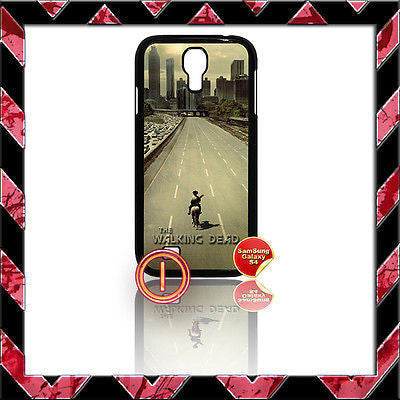 ★ THE WALKING DEAD ★ COVER FOR SAMSUNG GALAXY S4 IV/I9500 PHONE CASE HIGHWAY#1 - Black Halo Design