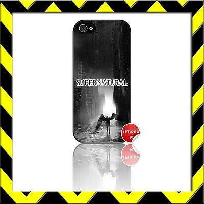 ★ SUPERNATURAL ★ COVER/CASE FOR APPLE IPHONE 5 #14 - Black Halo Design