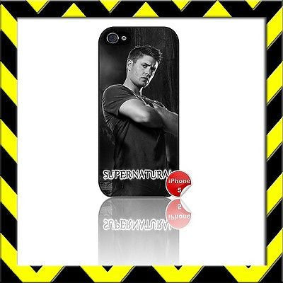 ★ SUPERNATURAL ★ COVER/CASE FOR APPLE IPHONE 5/5S JENSEN ACKLES#11 - Black Halo Design