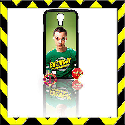 ★ THE BIG BANG THEORY ★ SHELL/COVER FOR SAMSUNG GALAXY S4 IV/I9500 SHELDON#1 - Black Halo Design