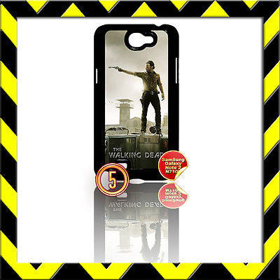 ★ THE WALKING DEAD ★ COVER FOR SAMSUNG GALAXY NOTE II/2/N7100 CASE RICK ON BUS#5 - Black Halo Design