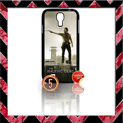 ★ THE WALKING DEAD ★ COVER FOR SAMSUNG GALAXY S4 IV/I9500 PHONE CASE RICK#5 - Black Halo Design