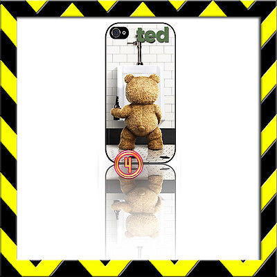 ★ TED AT URINAL ★ PROTECTIVE COVER FOR IPHONE 4/4S SHELL CASE SETH MCFARLAND#4 - Black Halo Design