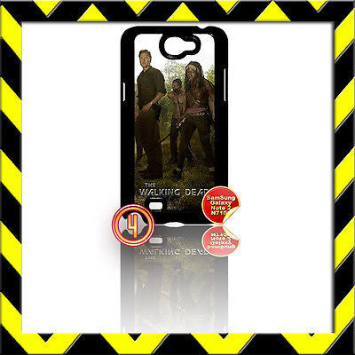 ★ THE WALKING DEAD ★ COVER FOR SAMSUNG GALAXY NOTE II/2/N7100 CASE MICHONNE#4 - Black Halo Design