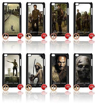 ★ CHOICE OF THE WALKING DEAD ★ IPOD TOUCH 4/4TH GEN GENERATION 4G COVER - Black Halo Design