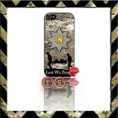 ★ ROYAL ANGLIAN REGIMENT ★ SHELL/CASE/COVER FOR IPHONE 5/5S (RAR) CAMO#18 - Black Halo Design