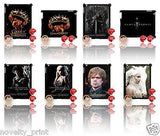 ★ GAME OF THRONES ★ CASE FOR IPAD 2/3/4 HARD(COVER) (3RD/4TH) FIRE & ICE - Black Halo Design  - 1