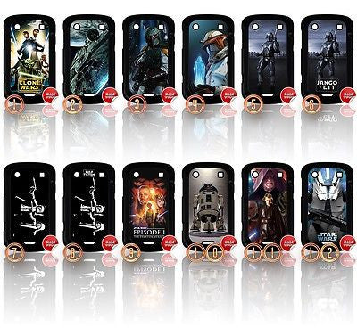 ★ CHOICE OF STAR WARS ★ BLACKBERRY BOLD 9900 HARD CASE COVER (STARWARS) - Black Halo Design  - 1