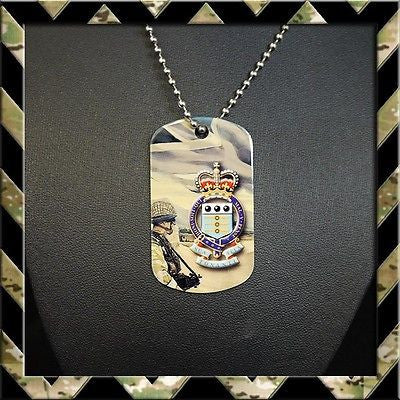ROYAL ARMY ORDNANCE CORPS (RAOC) DOG TAG NECKLACE/KEYRING - Black Halo Design