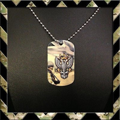 ★ THE MERCIAN REGIMENT (MERCS) ★ DOG TAG NECKLACE/KEYRING MERCIANS - Black Halo Design