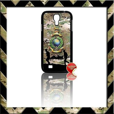 ★ ROYAL MARINES GLOBE & LAURELS COVER FOR SAMSUNG GALAXY S4/S IV/I9500 CASE ARMY - Black Halo Design