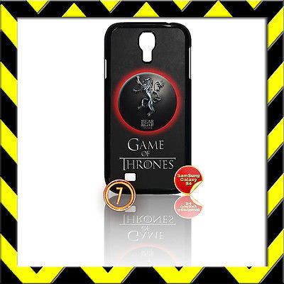 ★GAME OF THRONES★COVER FOR SAMSUNG GALAXY S4 IV/I9500 PHONE LANNISTER LION #7 - Black Halo Design
