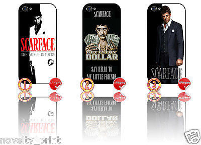 ★ SCARFACE ★ APPLE IPHONE 5  MOBILE PHONE HARD CASE COVER (AL PACINO MOVIE FILM) - Black Halo Design  - 1