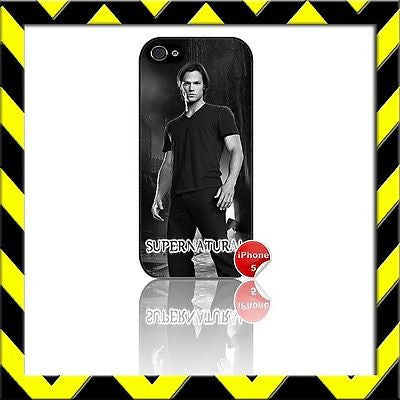 ★ SUPERNATURAL ★ COVER/CASE FOR APPLE IPHONE 5/5S JARED PADALECKI#12 - Black Halo Design