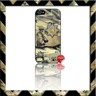 ★ ARMY ROYAL ANGLIAN REGIMENT (RAR) ★ PHONE COVER FOR IPHONE 5 CASE NAVY/RAF - Black Halo Design
