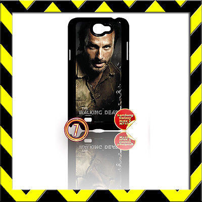 ★ THE WALKING DEAD ★ COVER FOR SAMSUNG GALAXY NOTE II/2/N7100 CASE RICK#7 - Black Halo Design