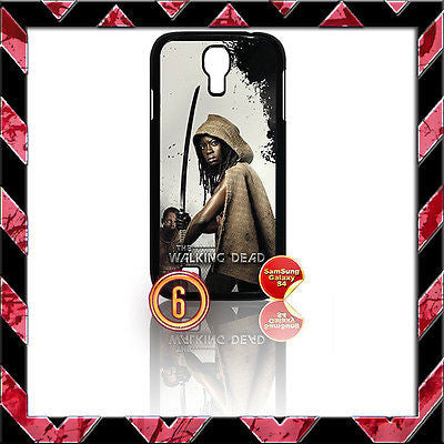 ★ THE WALKING DEAD ★ COVER FOR SAMSUNG GALAXY S4 IV/I9500 PHONE CASE MICHONNE#6 - Black Halo Design
