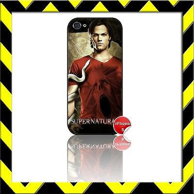 ★ SUPERNATURAL SAM WINCHESTER★ COVER/CASE FOR APPLE IPHONE 5 Jared Padalecki#2 - Black Halo Design