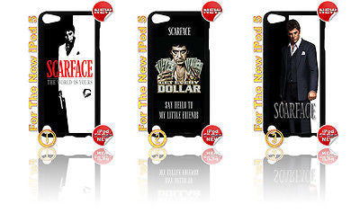 ★ SCARFACE ★IPOD TOUCH 5 5th GENERATION 4G HARD CASE COVER (AL PACINO MOVIE) - Black Halo Design  - 1