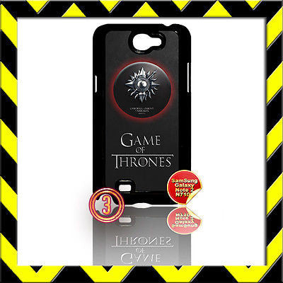 ★ GAME OF THRONES ★COVER FOR SAMSUNG GALAXY NOTE II/2/N7100 PHONE CASE MARTELL#3 - Black Halo Design