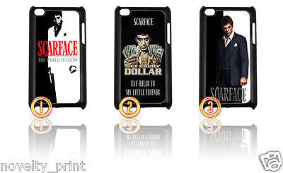 ★ CHOICE OF SCARFACE ★ IPOD TOUCH 4TH GENERATION 4G HARD CASE COVER (AL PACINO) - Black Halo Design  - 1