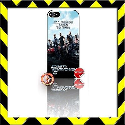 ★ FAST AND (&) FURIOUS 6 ★ PHONE COVER FOR IPHONE 5 (CASE) THE CREW#5 - Black Halo Design