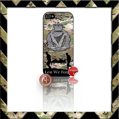 ★ THE ROYAL IRISH REGIMENT ★ SHELL/CASE/COVER FOR IPHONE 5/5S (RIR)CAMO#4 - Black Halo Design
